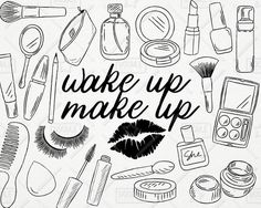 Makeup for girls clipart black and white banner transparent download 25 Best makeup clipart images in 2016   Draw, Fashion ... banner transparent download