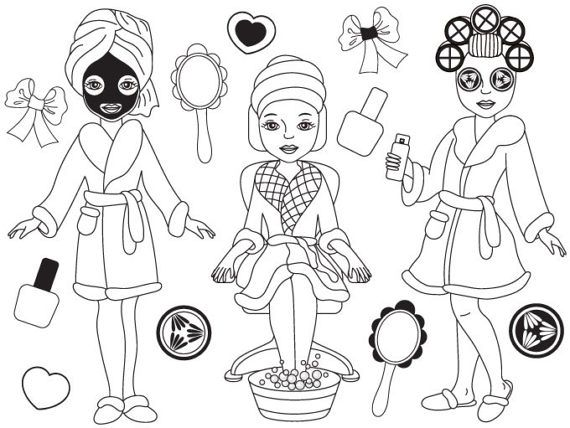Makeup for girls clipart black and white vector free Pin by Tonita Dawkins on Parties   Girl clipart, Clip art ... vector free