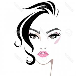 Makeup for girls clipart black and white picture transparent stock Photostock Vector Illustration Of Women Hair Style Icon Logo ... picture transparent stock