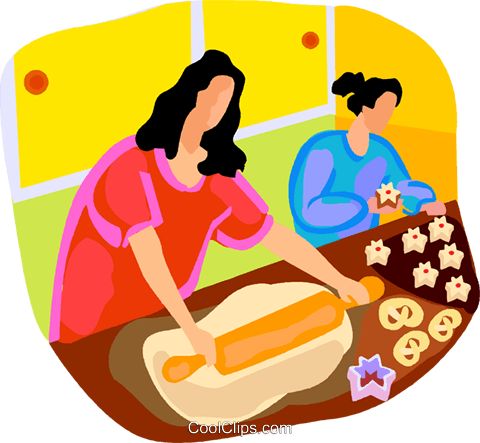 Making cookies clipart svg transparent stock women making cookies Royalty Free Vector Clip Art ... svg transparent stock