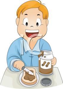 Making peanut butter sandwich clipart vector stock A Boy Making a Peanut Butter Sandwich - Royalty Free Clipart ... vector stock