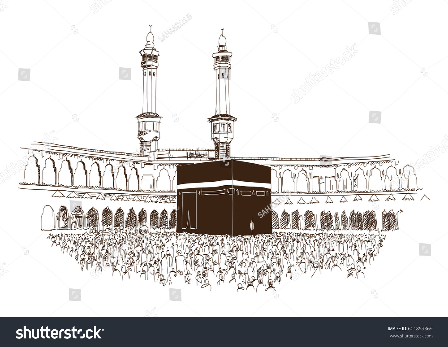 Makkah madina clipart picture transparent stock Mecca Sketch at PaintingValley.com | Explore collection of ... picture transparent stock