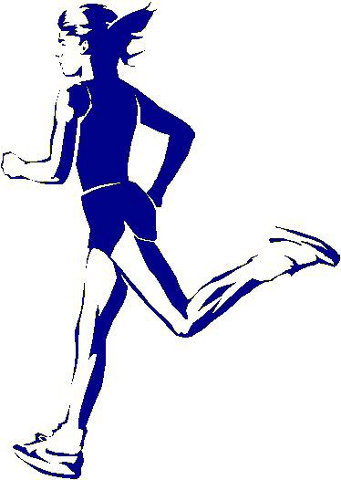 Male and female cross country runners abstract clipart picture download Running Related Pictures -- Ascend Racing Team on the WWW picture download