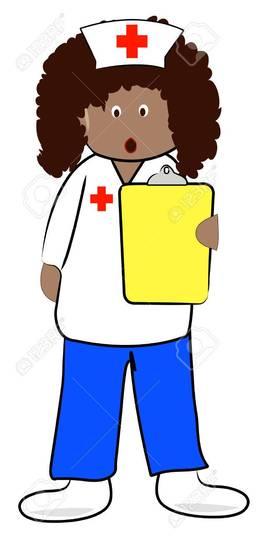 Male and female nurse clipart