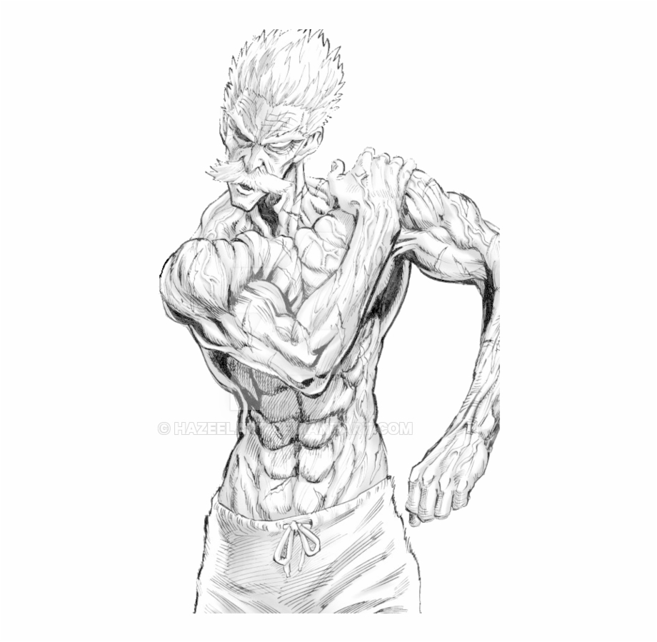 Male full figure free clipart clipart transparent download Clipart Royalty Free Library Bang One Punch Man By - One ... clipart transparent download