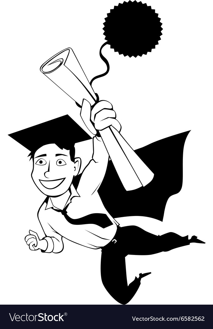 Male graduate clipart jpg black and white stock Male graduate clipart jpg black and white stock