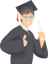 Male graduate clipart svg black and white stock Search Results for graduate - Clip Art - Pictures - Graphics ... svg black and white stock