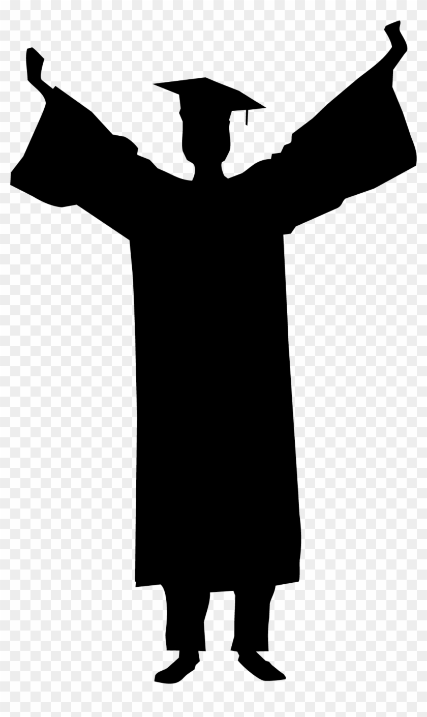 Male graduate clipart jpg black and white Svg Royalty Free Library Male Graduation Silhouette ... jpg black and white