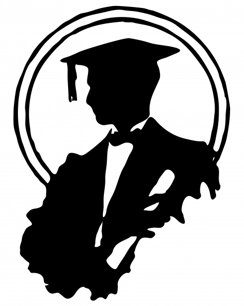 Male graduate clipart vector black and white download Male Graduate Silhouette Clipart Free Stock Photo - Public ... vector black and white download