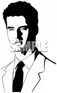 Male models clipart black and white png transparent library A Black and White Silhouette of a Male Model Wearing a Suit ... png transparent library