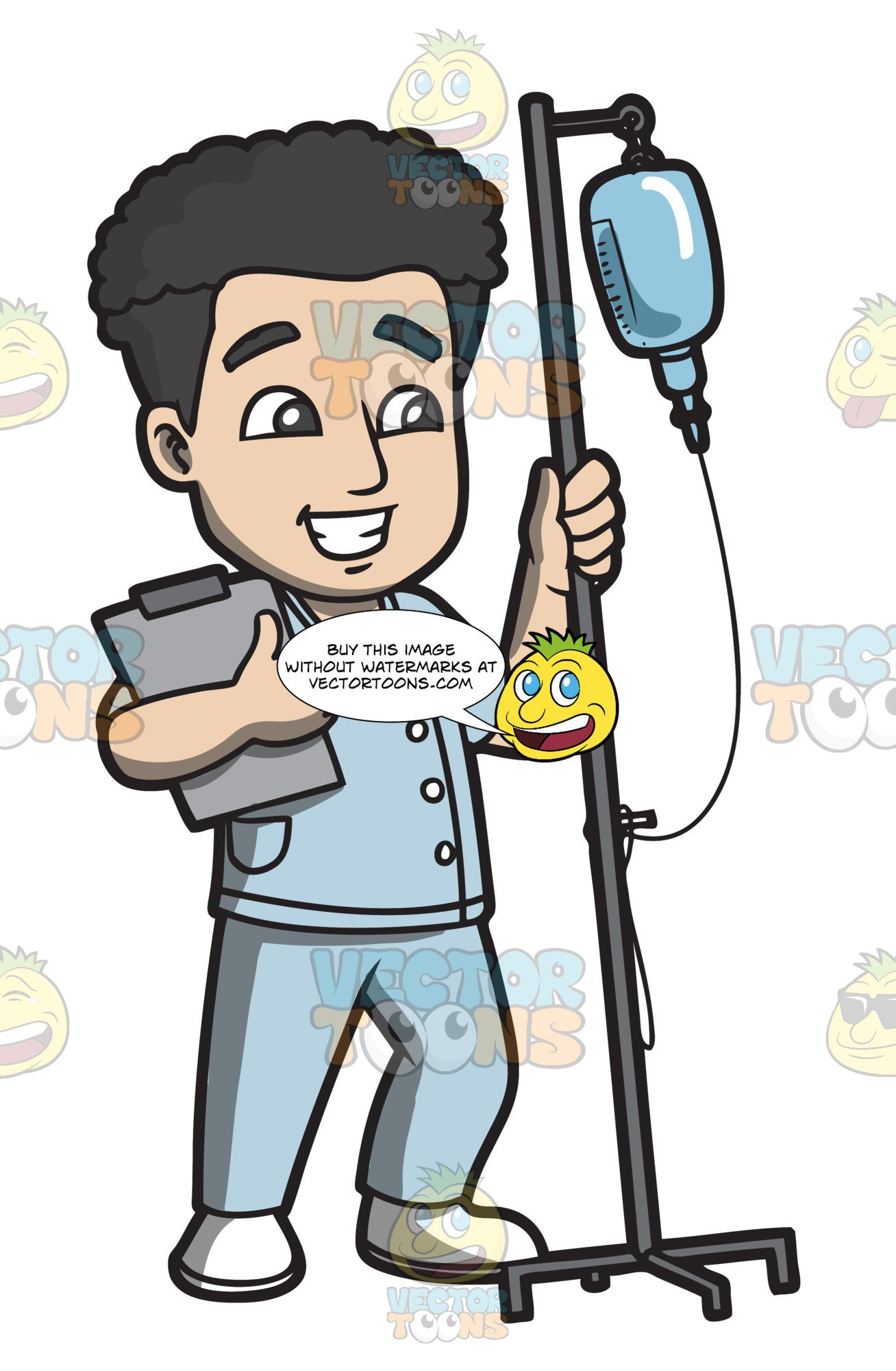 Male nurse pictures clipart clipart free A Male Nurse Carrying An Intravenous Fluid To A Patient clipart free