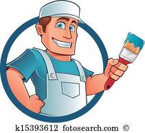 Maler und anstreicher clipart image freeuse Anstreicher Clip Art und Illustrationen. 414.827 anstreicher ... image freeuse