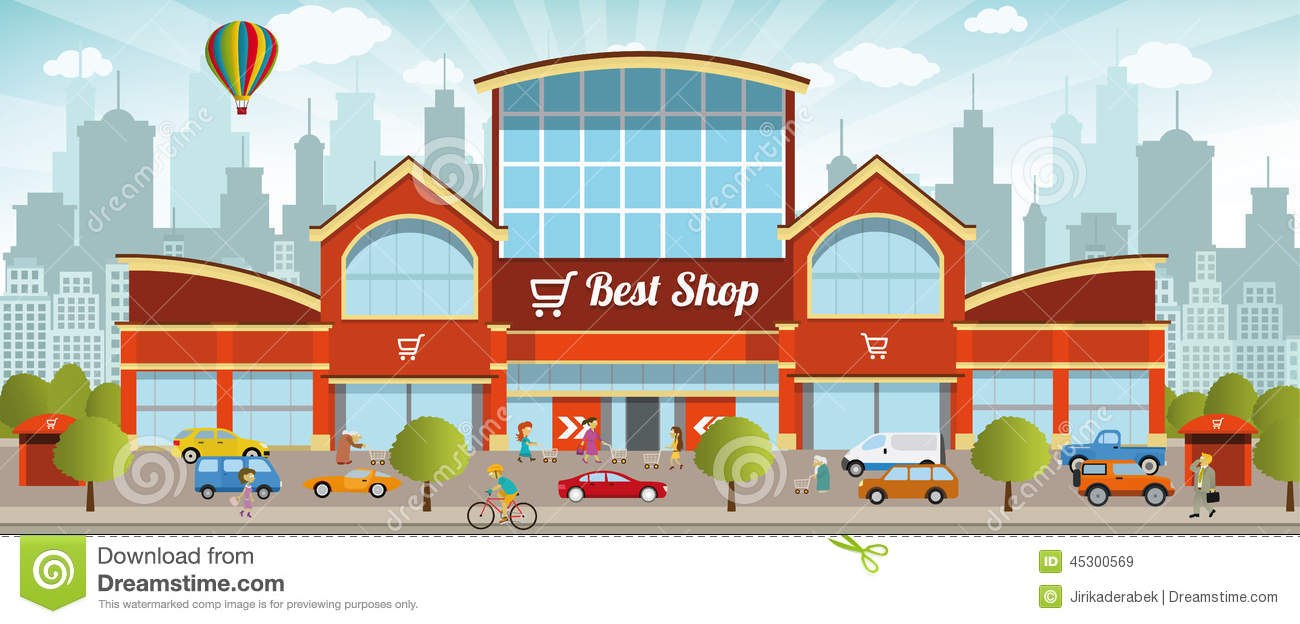 Shopping mall clipart transparent Shopping mall clipart 4 » Clipart Station transparent