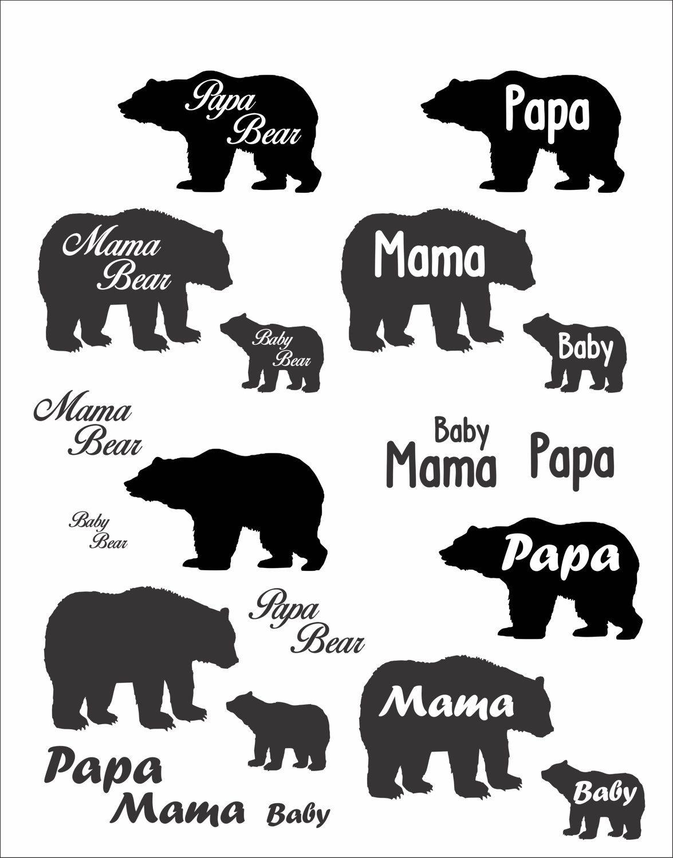 Mama and baby bear clipart free stock Pin by Regina Calhoun-Bray on Cricut | Baby bear tattoo, Bear ... free stock