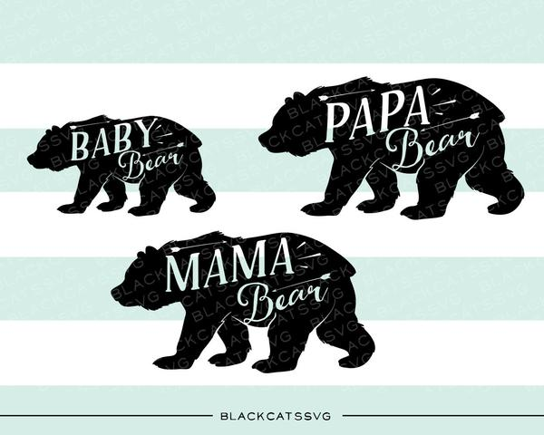 Mama and baby bear clipart jpg freeuse library Bear family baby bear mama bear papa bear - SVG file Cutting File Clipart  in Svg, Eps, Dxf, Png for Cricut & Silhouette jpg freeuse library