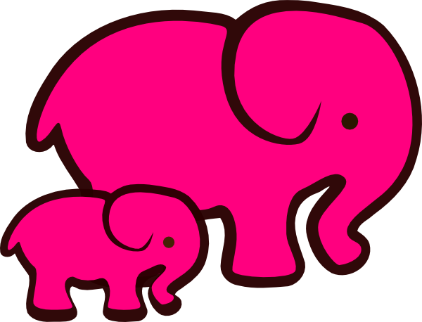 Mama and baby elephant clip art banner library download Mommy And Baby Elephant Clipart - Clipart Kid banner library download