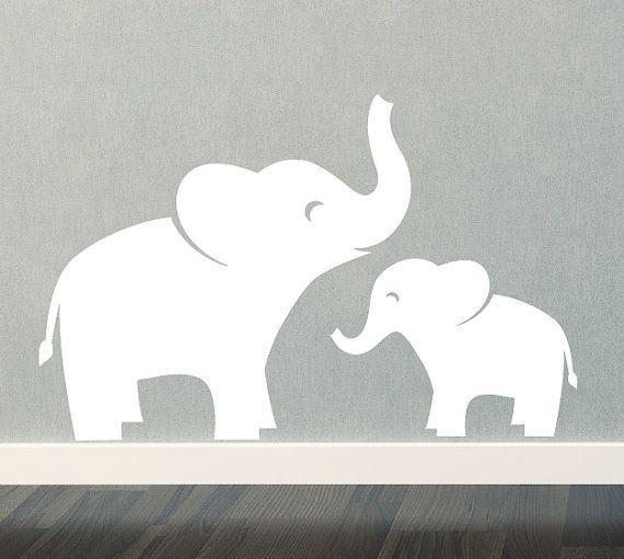 Mama and baby elephant clip art picture black and white library 17 Best images about * Elephant Silhouettes, Vectors, Clipart, Svg ... picture black and white library
