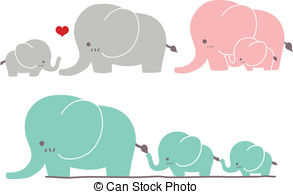 Mama and baby elephant clip art vector library download Baby and mom elephant clipart - ClipartFest vector library download