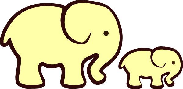 Mama and baby elephant clip art clip freeuse download Mommy And Baby Elephant Clipart - Clipart Kid clip freeuse download