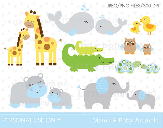 Mama and baby elephant clip art graphic freeuse library Mom And Baby Animal Clipart - Clipart Kid graphic freeuse library