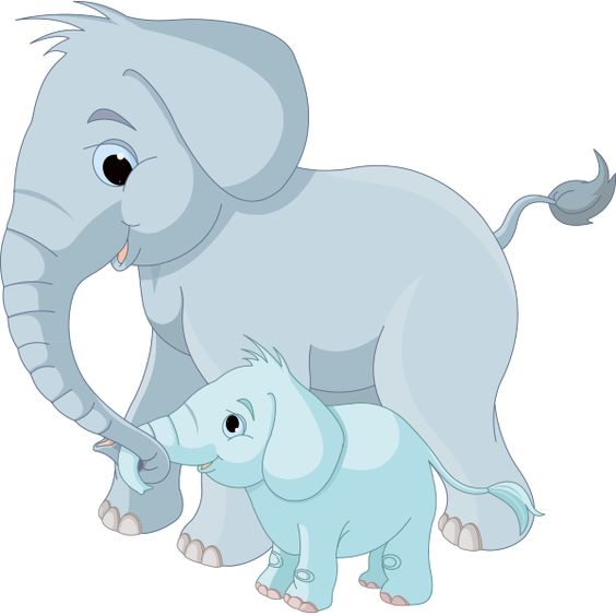 Mama and baby elephant clip art clip art free stock Big and Little Elephants | Mom, Babies and Little elephant clip art free stock