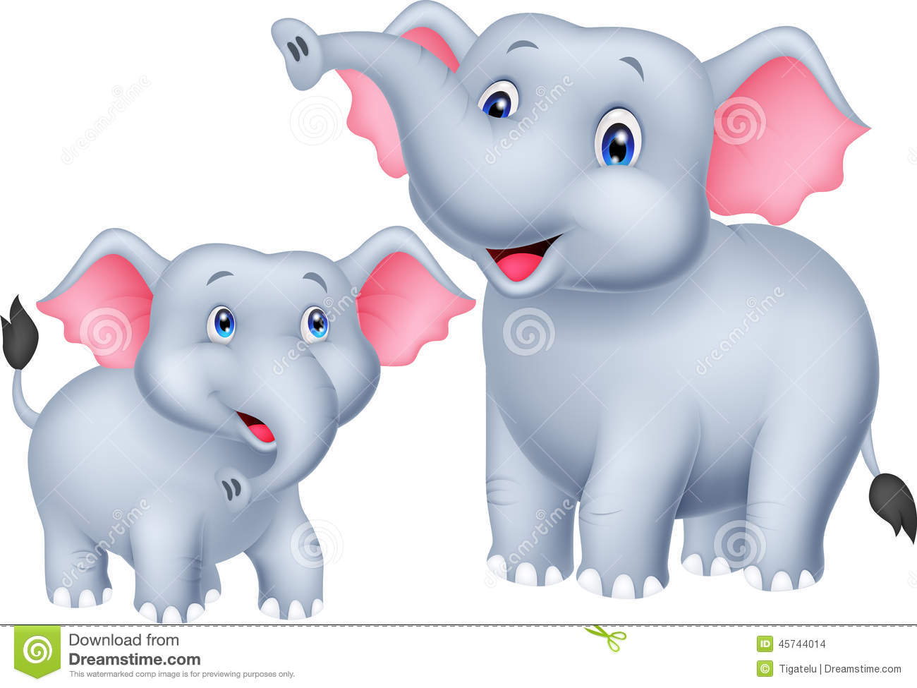 Mama and baby elephant clip art black and white download Mother baby elephant clipart - ClipartFest black and white download