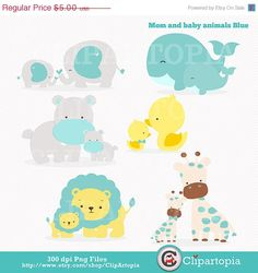 Mama and baby elephant clip art freeuse download mom baby animal clip art graphics, baby shower mother's day ... freeuse download