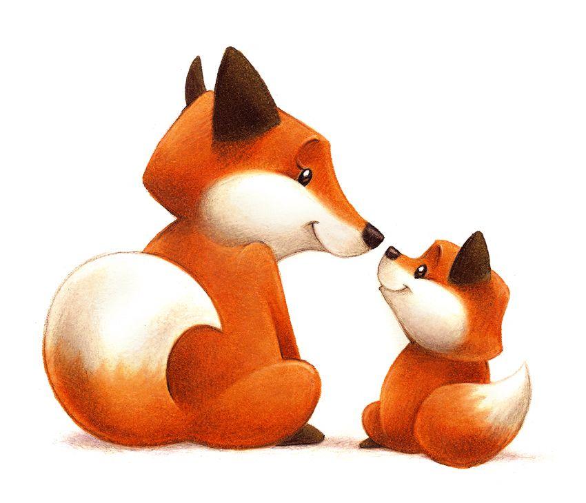 Mama and baby fox clipart line drawing jpg Mama Fox and Baby Fox by Aaron Zenz   My Work   Fox drawing, Fox ... jpg
