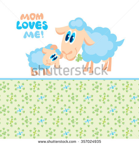 Mama and baby sheep clipart jpg freeuse stock Goat Baby And Mom Stock Images, Royalty-Free Images & Vectors ... jpg freeuse stock