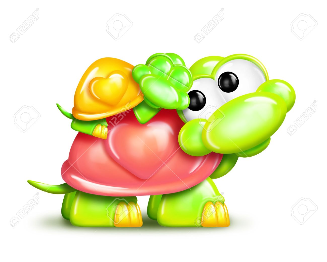 Mama and baby turtle clipart clipart royalty free library Whimsical Cartoon Turtle With Baby On Back Stock Photo, Picture ... clipart royalty free library