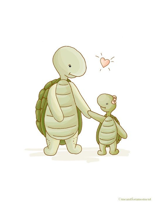 Mama and baby turtle clipart png library download Mama and baby turtle clipart - ClipartFest png library download