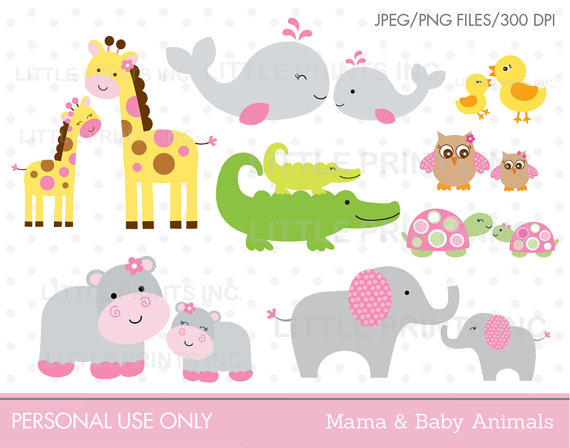 Mama and baby turtle clipart graphic black and white download Mama & Baby Animal Clipart Elephant Whale Giraffe Hippo Owl ... graphic black and white download