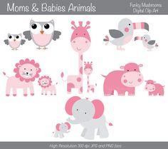 Mama baby animal clipart jpg freeuse stock Baby animal and mama clipart - ClipartFox jpg freeuse stock