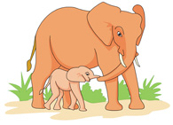 Mama baby animal clipart vector free library Free Elephant Clipart - Clip Art Pictures - Graphics - Illustrations vector free library