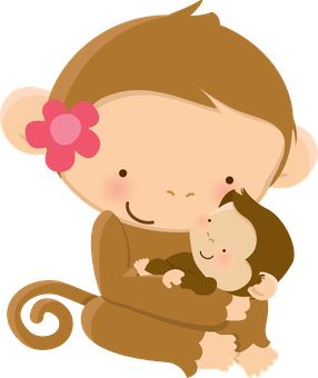 Mama baby animal clipart vector black and white download 17 Best images about Monkeys, Primates on Pinterest | Jungles ... vector black and white download