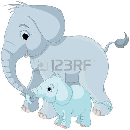 Mama baby elephant clipart vector black and white stock 6,779 Baby Elephant Stock Vector Illustration And Royalty Free ... vector black and white stock