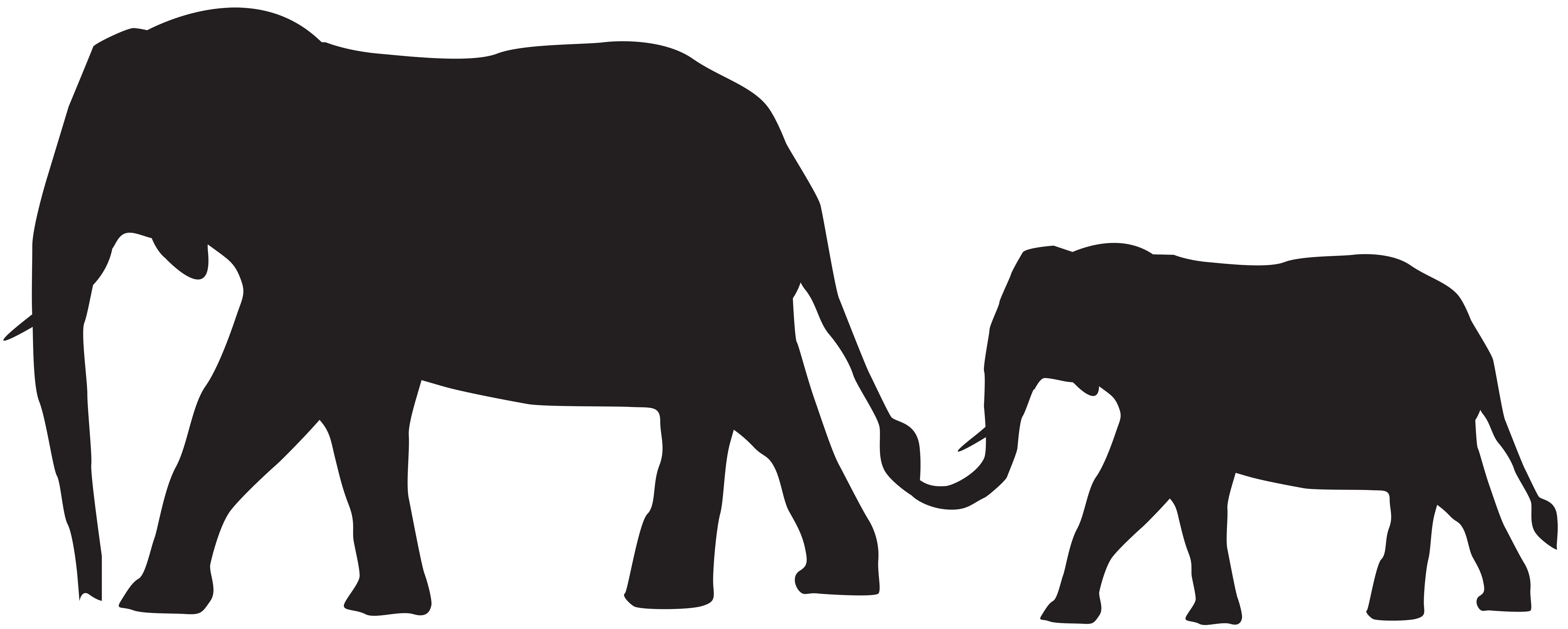 Mama baby elephant clipart png stock Mom And Baby Elephant Silhouette at GetDrawings.com | Free for ... png stock