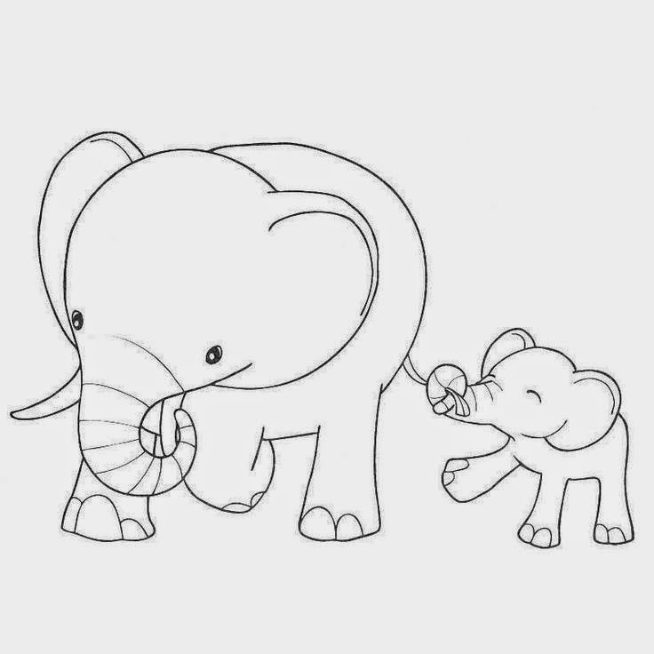 Mama baby elephant clipart black and white library geography blog baby elephants coloring pages. man right half ... black and white library