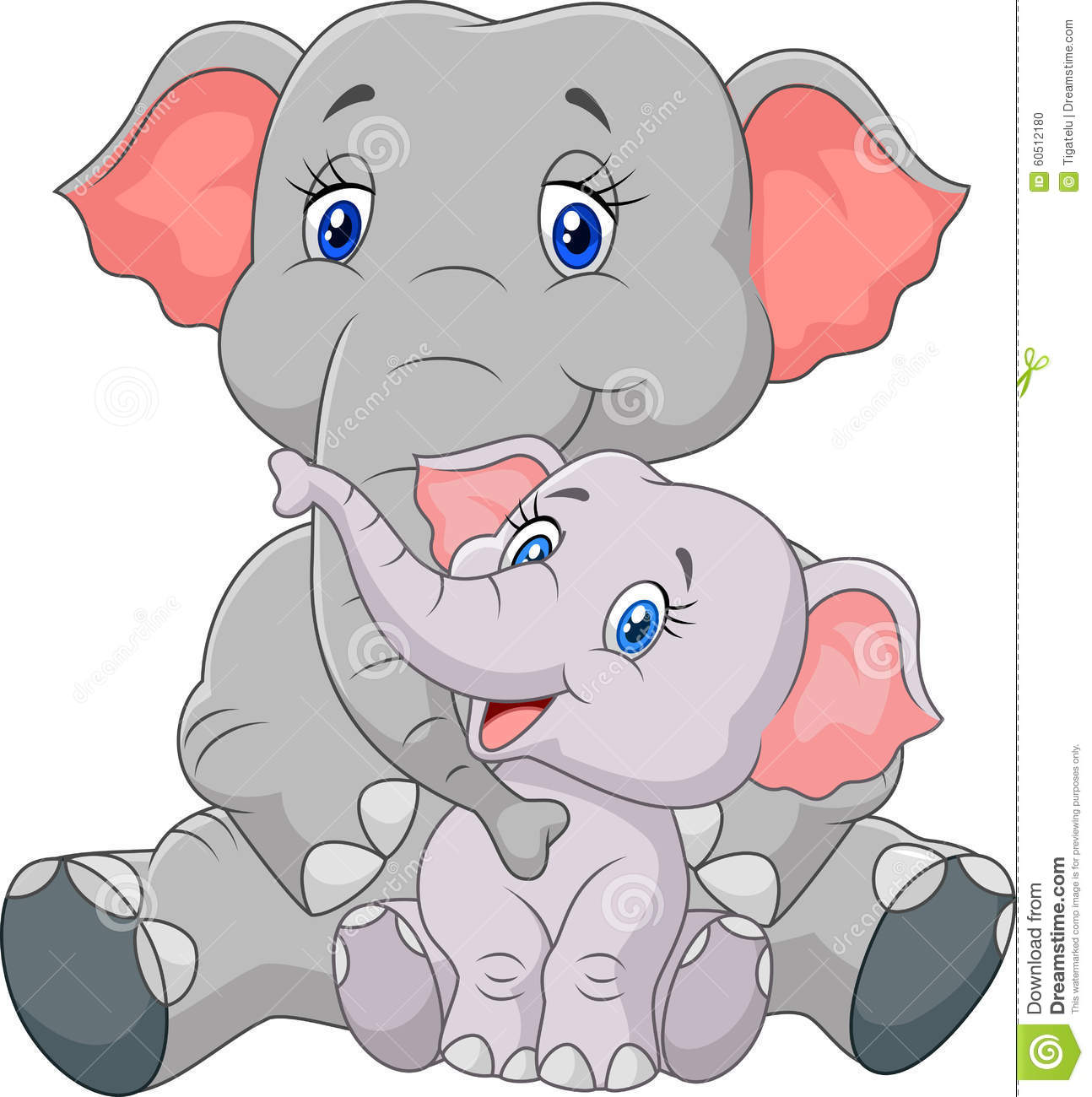 Mama baby elephant clipart jpg free Cartoon Mother Baby Elephant Stock Photos, Images, & Pictures ... jpg free