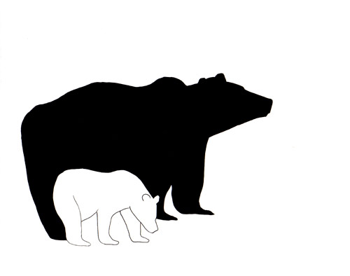 Mama bear and baby bear clipart banner free library Free Mama And Baby Bear Outline, Download Free Clip Art, Free Clip ... banner free library