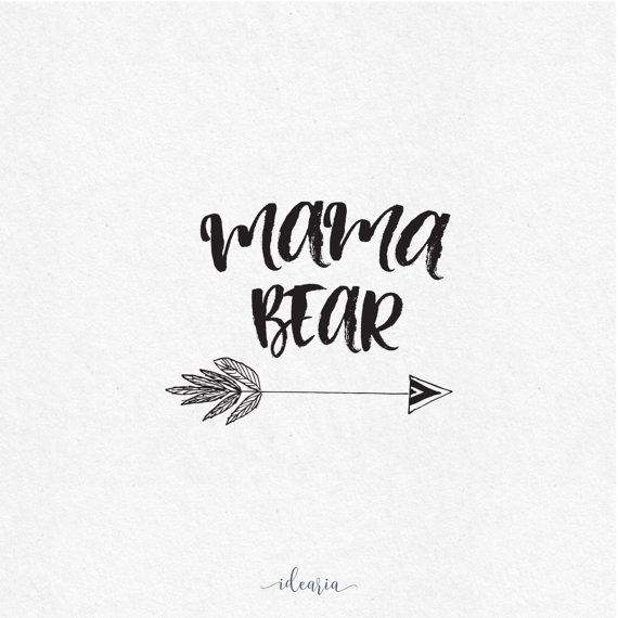 Mama bear clip art jpg black and white library Mama Bear SVG file, vinyl cutting Cricut   Names, Crafts and Name ... jpg black and white library