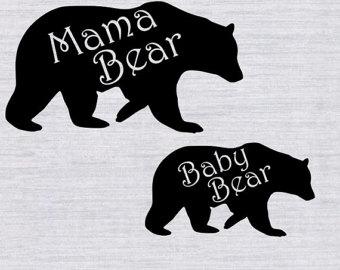 Mama bear clip art clip black and white stock Mama bear clipart   Etsy clip black and white stock