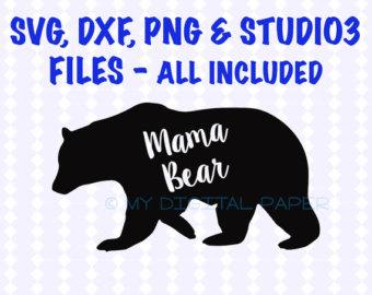Mama bear clip art image transparent download Mama bear svg – Etsy image transparent download