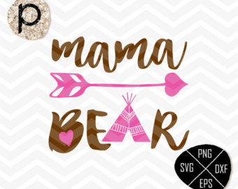 Mama bear clip art freeuse library Mama bear svg – Etsy freeuse library