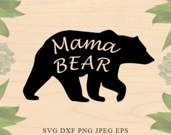 Mama bear clip art banner black and white library Handmade mama bear svg – Etsy banner black and white library
