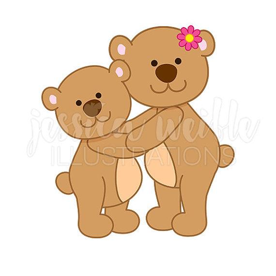 Mama bear clip art clip library download Mama Bear Hug Cute Digital Clipart, Mothers Day Clip art, Bear ... clip library download