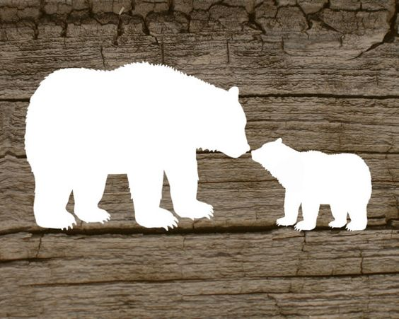 Mama bear clip art graphic free stock Digital printable of a mama bear and her cub by ElevatedDesignShop ... graphic free stock