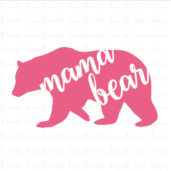 Mama bear clip art banner library download Mama bear svg   Etsy banner library download