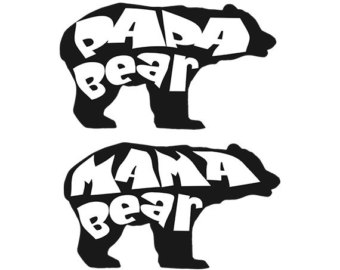 Mama bear clip art graphic library library Mama bear clipart   Etsy graphic library library