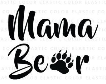 Mama bear clip art vector black and white stock Mama bear svg mama bear clipart mama bear print mama bear vector black and white stock